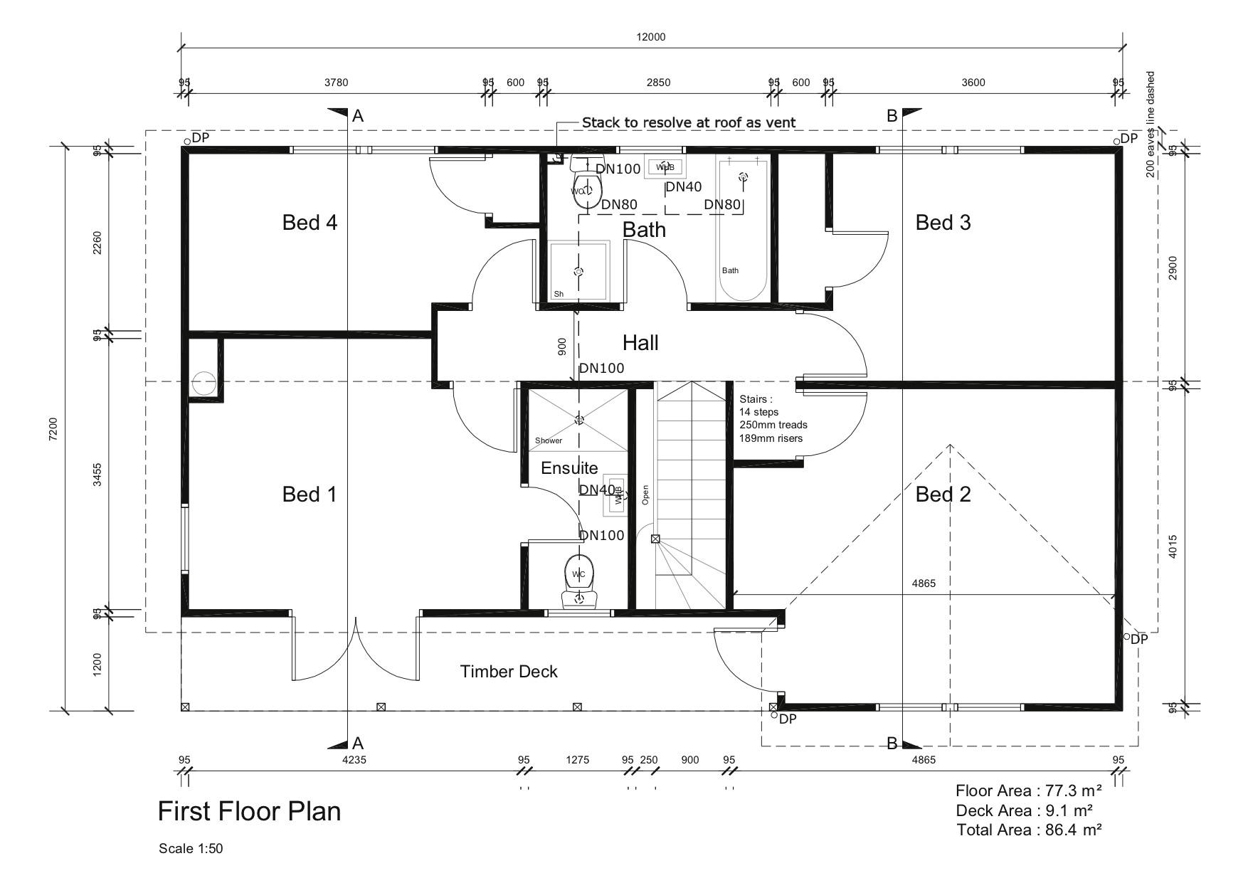 Mustard construction dunedin builders victorian design Floor plan view
